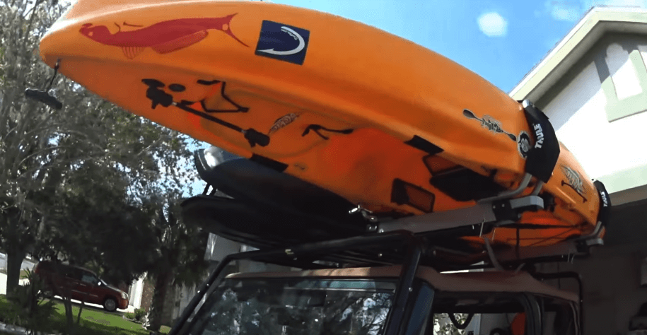 Thule Hullavator is great with kayaks but owners of V shaped boats might want to load upside down.